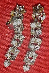 Vintage Bogoff cascade austrian crystal earrings