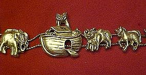 Noah's Ark  and animals, sliding link bracelet