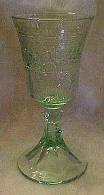 Tiara Lords supper green chalice / wine goblet,