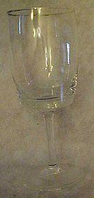 """Gorham Accent 1551 crystal goblet platinum rim 7"""""""