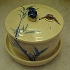 Oriental bamboo blue