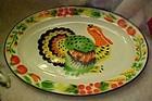 Colorful enamelware Turkey platter