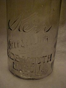 Kerr 1/2 gallon fruit jar, Sand Springs Okla,  1915.