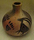 Native american pottery vase, signed piece