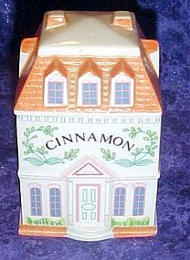 Lenox Spice Village ,Victorian  Cinnamon House, jar