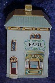 Lenox Spice Village, Victorian Basil house, jar