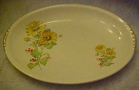Paden City Pottery PCP60, yellow daisies oval platter