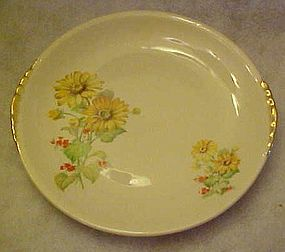 Paden City Pottery, PCP60,  yellow daisies dinner plate