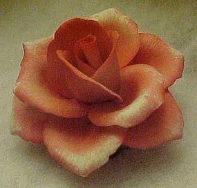 Napoleon capodimonte pink blush rose sculpture