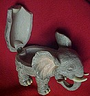 Elephant trinket box with rhinestone eyes