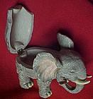 Elephant trinket box with rhinestone eyes