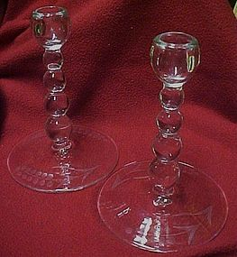 Paden City Vale or Alexandra #444 candleholder pair