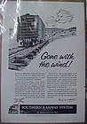 Vintage 1956 Southern Railway train advertising ad