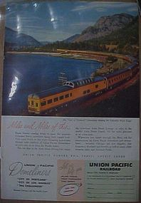 Vintage 1956  Union Pacific Railroad train add,