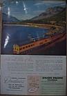 Vintage 1956  Union Pacific Railroad train add,