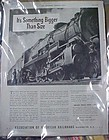 Vintage 1941 Association of American Railroads train ad