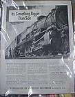 Vintage 1941 Association of American Railroads train ad