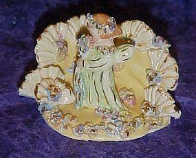 Vintage spaghetti art angel cake topper Capodimonte