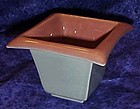 Amazing Eames era pink and grey square planter vase