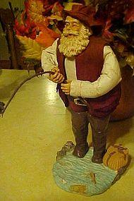 Clothtique  Fisherman Santa by Possible Dreams