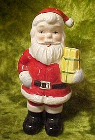 Vintage JAPAN Santa Claus  holding presents figurine