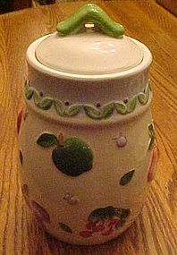 Embossed hand painted fruits cookie jar, ALCO Int'l