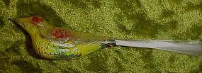 Antique blown glass bird Christmas ornament