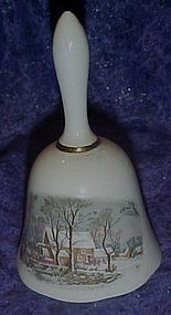 Avon  Currier And Ives Winter bell 1978 Reps award