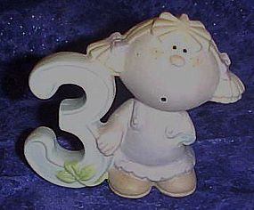 George Good Bumpkins 3 yr old girl cake topper