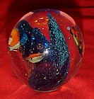 Under water ocean theme art glass paperweight