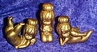 Vintage  60's gold  nude Christmas angel figures