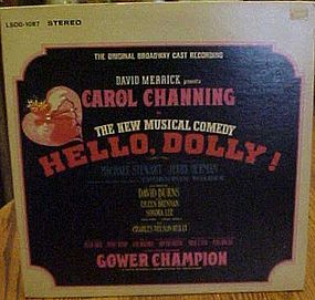 Original soundtrack Carol Channing's Hello Dolly album