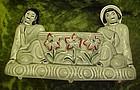 Royal Copley Oriental Asian couple, planter vase