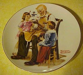 Beloved Classics Norman Rockwell plate, The toymaker