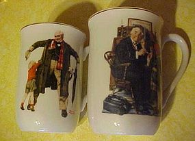 Norman Rockwell Porcelain mug, doctor and doll