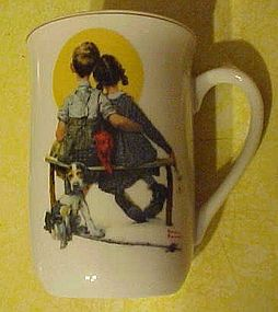 Norman Rockwell mug, The Spooners, 1925 post cover