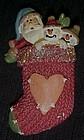 Festive Christmas stocking pin