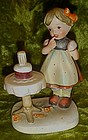 Arnart Eric Stauffer Girl and birthday cake figurine