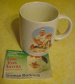 Norman Rockwell fishing mug , from Long John Silvers