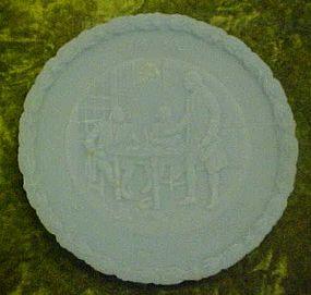 Fenton powder blue satin bicentennial plate  2#