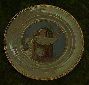 Vintage Pope  XII   plate. Homer Laughlin eggshell