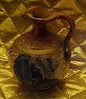 Greek Corinthian black figured pottery pitcher