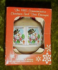 1985 commemorative Christmas Seal tree ornament