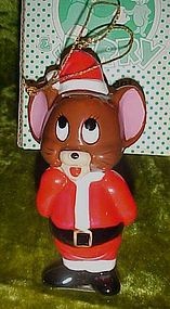Vintage Jerry mouse ceramic Christmas ornament, P4046