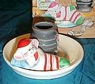 Avon snuggle mouse ceramic candle holder