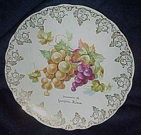 Vintage Homer Laughlin souvenir plate, Jasper Minnesota