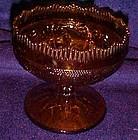 Indiana amber sandwich glass candleholder Tiara