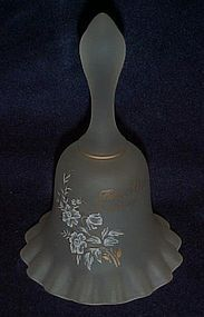 Viking glass white ruffled satin bell 50th anniversary
