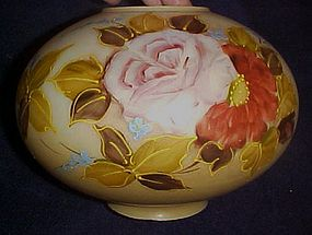 Antique hand painted floral replacement lamp globe