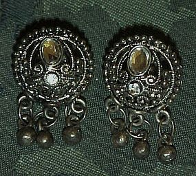 Victorian look pierced earrings post backs